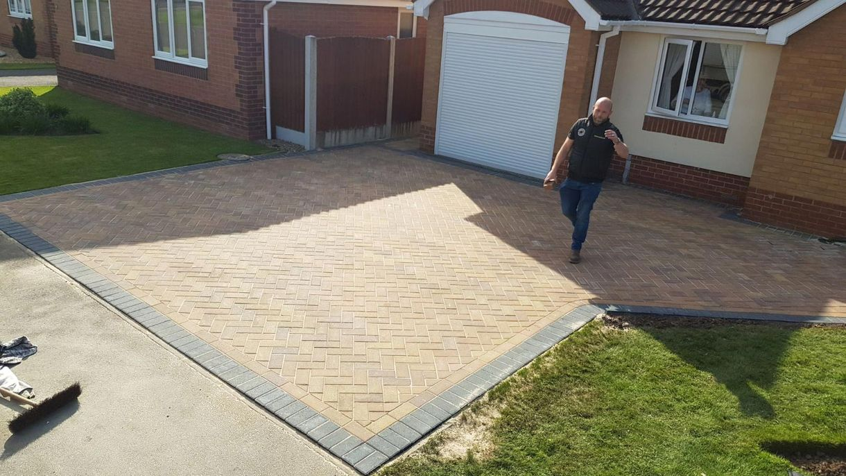 A newly finished driveway installed by our team