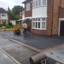 Our team working on a new tarmac driveway in Barnsley