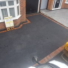 A newly finished tarmac driveway installed in Barnsley