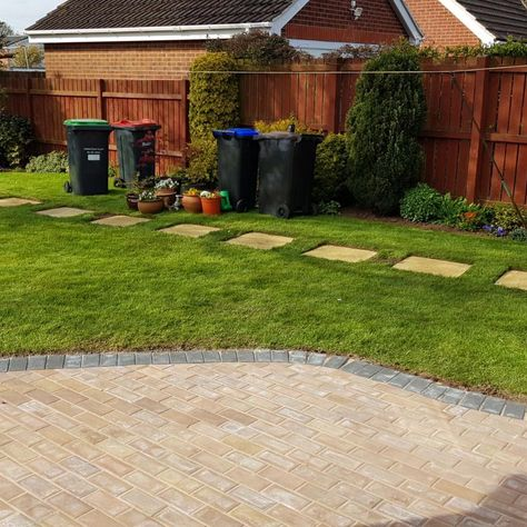 Work done by our team on a patio and new lawn for a domestic customer