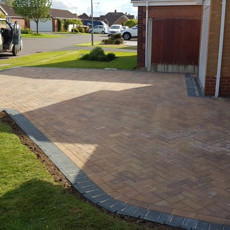 A driveway installed in a residential home by our team