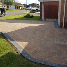 A driveway installed in a residential home by our team in Barnsley