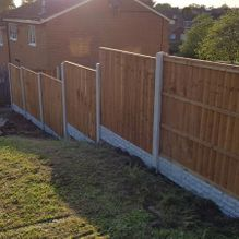 A fence that our team worked on erecting in Barnsley