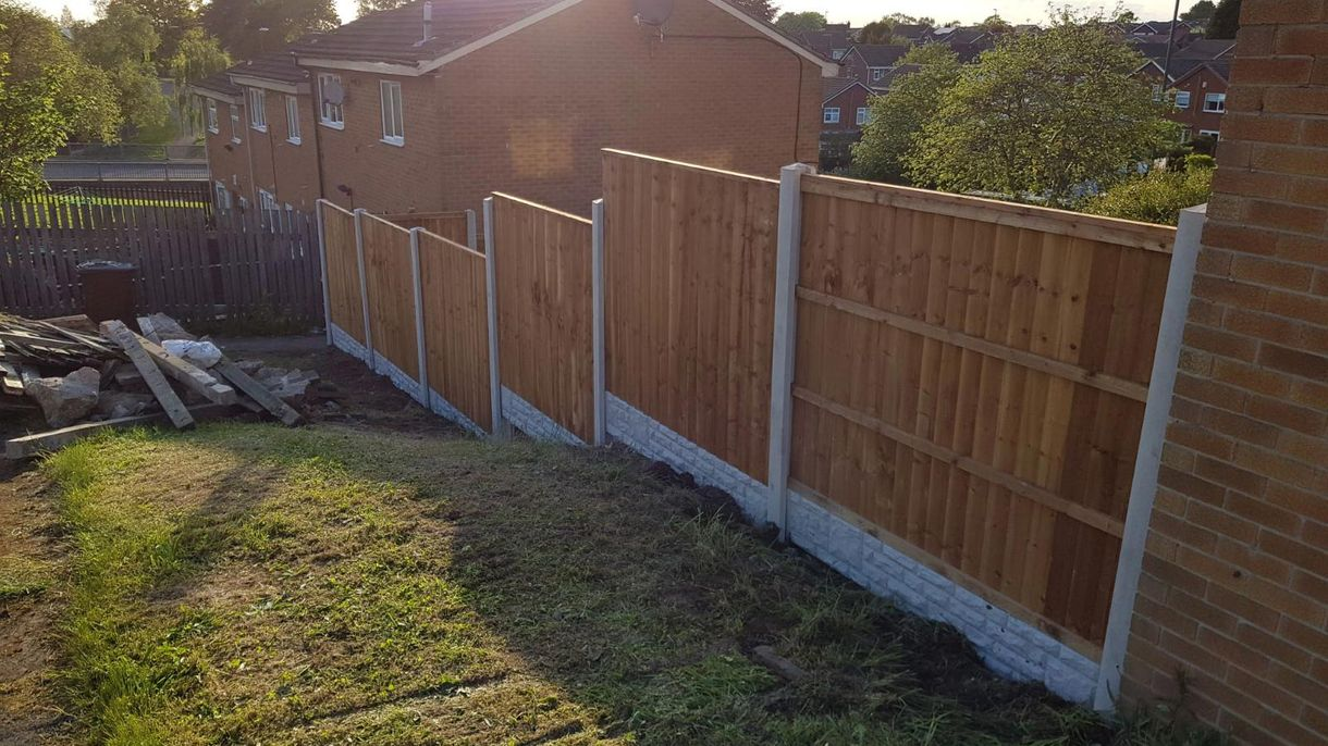 A fence that our team worked on erecting