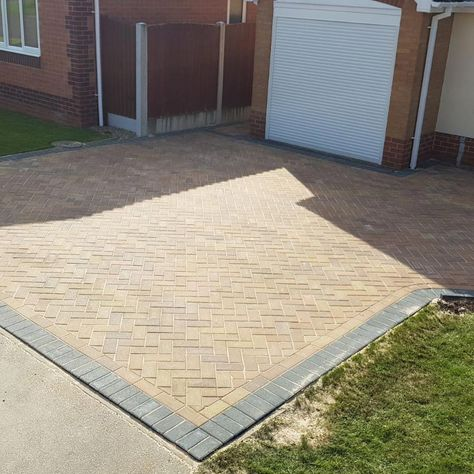 A driveway that our team worked on