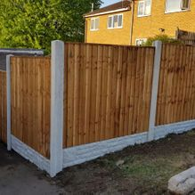 A fence that has been erected by our team in Barnsley