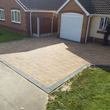 A newly finished driveway installed by our team in Barnsley