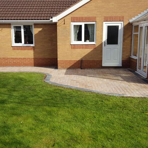 Patio and new lawn work done by our skilled team